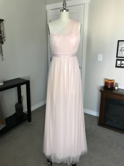 BHLDN Blush Tulle Annabelle Formal Bridesmaid/Mob Dress Size 2 (XS) Image 2