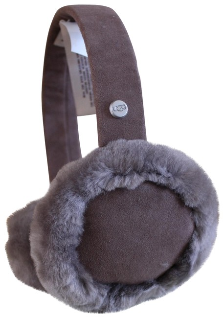 Item - Gray Box Shearling Earmuffs with and Tags Hair Accessory