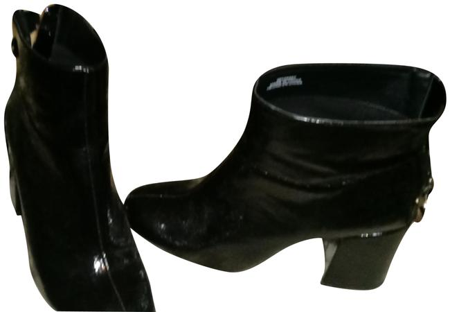 Item - Black Patent Chunky Boots/Booties Size US 7.5 Regular (M, B)