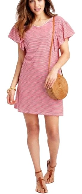 Item - Red Velvet 2q2573-621 Striped Knit Ruffle Sleeve Short Casual Dress Size 4 (S)