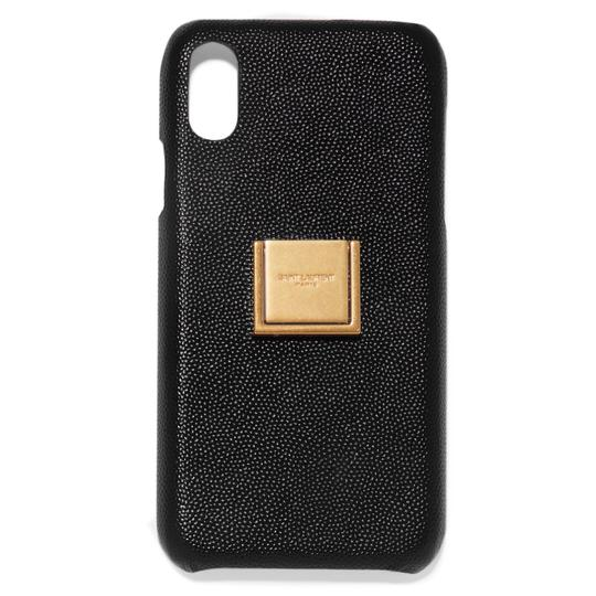 Preload https://img-static.tradesy.com/item/25953916/saint-laurent-black-leather-ring-iphone-xr-case-cover-tech-accessory-0-0-540-540.jpg