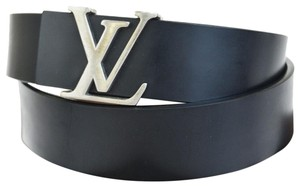 Louis Vuitton LOUIS VUITTON Men's Ceinture Belt Leather Black France