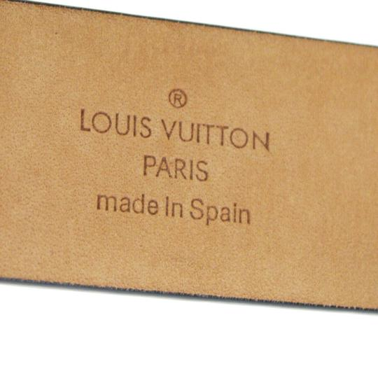 Louis Vuitton LOUIS VUITTON Men's Ceinture Belt Leather Black France Image 11