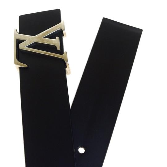 Louis Vuitton LOUIS VUITTON Men's Ceinture Belt Leather Black France Image 4