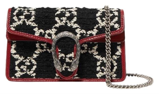 Item - Dionysus Super Mini Gg Logo Tweed Cross Body Bag