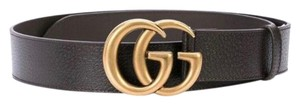 Gucci Gg logo leather belt size 105/ 42 4cm width