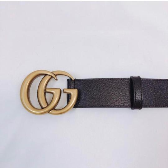 Gucci Gg logo leather belt size 105/ 42 4cm width Image 2