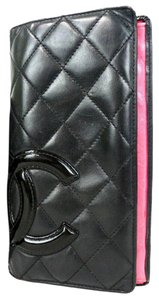 Chanel CHANEL Cambon line wallet leather