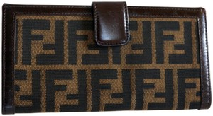 Fendi FENDI Zucca Trifold Long Wallet Organizer Cards ID Clutch Case Cartes