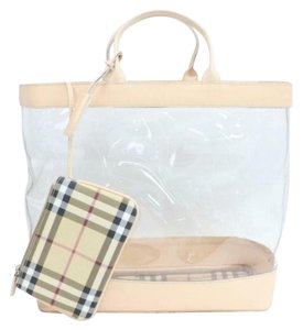 Burberry Clear Pvc Bags Designer Tote