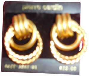 Pierre Cardin Vintage pierre cardin Triple Circles Pierced Earrings New on card