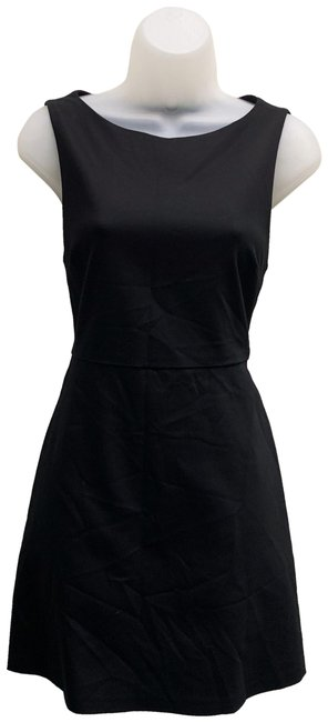 Item - Black W000505198 Flared Sleeveless Mid-length Night Out Dress Size 6 (S)