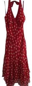 Johnny Martin Halter Hankerchief Hemline Dress