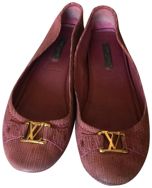 Item - Burgundy Loafers Italy Flats Size EU 37.5 (Approx. US 7.5) Regular (M, B)