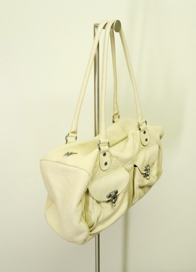 Cynthia Rowley Pebbled Antique Leather Shoulder Satchel in Beige Image 2