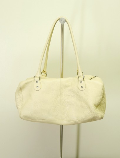 Cynthia Rowley Pebbled Antique Leather Shoulder Satchel in Beige Image 6