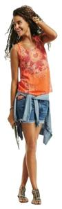 CAbi Floral Sleeveless Top Orange