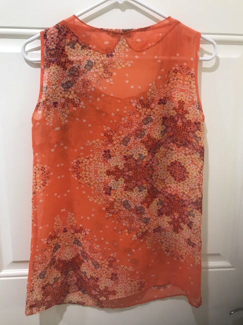 CAbi Floral Sleeveless Top Orange Image 4