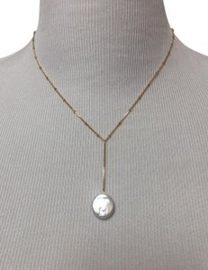 Anthropologie Pearl Drop Delicate Necklace