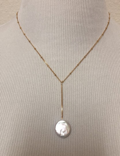 Anthropologie Pearl Drop Delicate Necklace Image 1