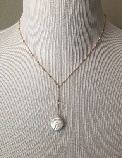 Anthropologie Pearl Drop Delicate Necklace Image 2