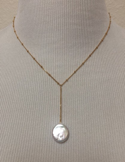 Anthropologie Pearl Drop Delicate Necklace Image 4
