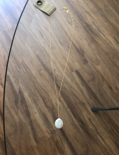 Anthropologie Pearl Drop Delicate Necklace Image 5