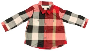 Burberry Button Down Shirt Button Down Shirt Black,Red