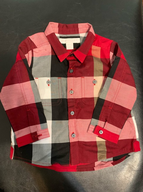 Burberry Button Down Shirt Button Down Shirt Black,Red Image 1