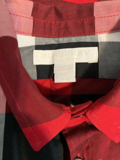 Burberry Button Down Shirt Button Down Shirt Black,Red Image 2