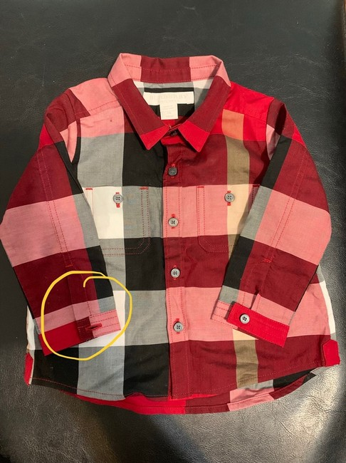 Burberry Button Down Shirt Button Down Shirt Black,Red Image 3