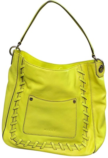Preload https://img-static.tradesy.com/item/25955870/milly-neon-yellow-leather-shoulder-bag-0-1-540-540.jpg