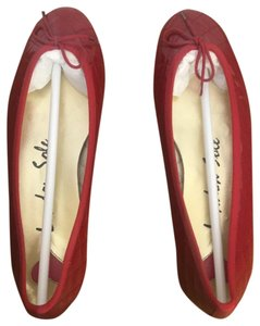 London Sole Red Patent Leather/Red Trim Flats
