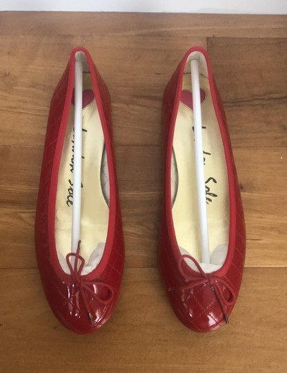 London Sole Red Patent Leather/Red Trim Flats Image 2