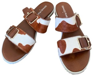 Donald J. Pliner brown and white Sandals