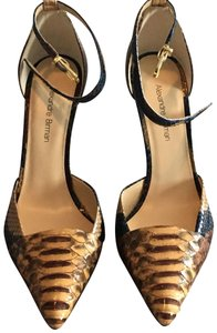 Alexandre Birman Camel and brown with blue accents Pumps