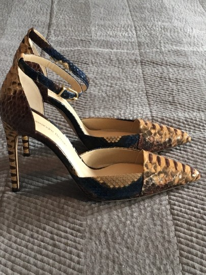 Alexandre Birman Camel and brown with blue accents Pumps Image 2