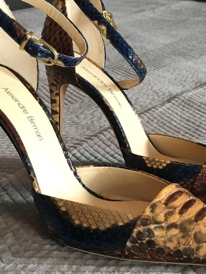 Alexandre Birman Camel and brown with blue accents Pumps Image 3