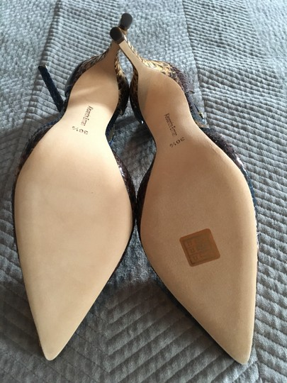 Alexandre Birman Camel and brown with blue accents Pumps Image 5
