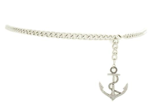 Alwaystyle4you Women Fashion Belt Silver Metal Chain Links Anchor Charm Size M L XL Image 1