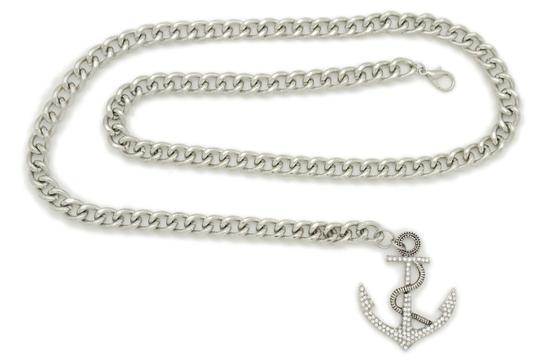 Alwaystyle4you Women Fashion Belt Silver Metal Chain Links Anchor Charm Size M L XL Image 7