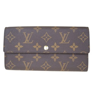 Louis Vuitton Authentic LOUIS VUITTON Portefeuille Sarah Long Bifold Wallet Monogram