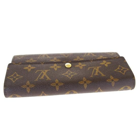 Louis Vuitton Authentic LOUIS VUITTON Portefeuille Sarah Long Bifold Wallet Monogram Image 2