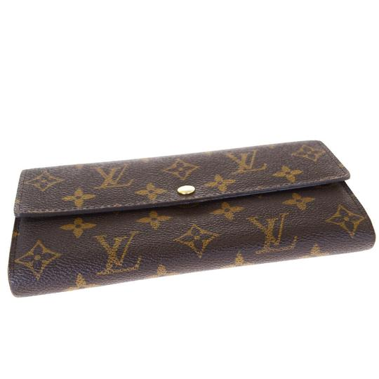 Louis Vuitton Authentic LOUIS VUITTON Portefeuille Sarah Long Bifold Wallet Monogram Image 3