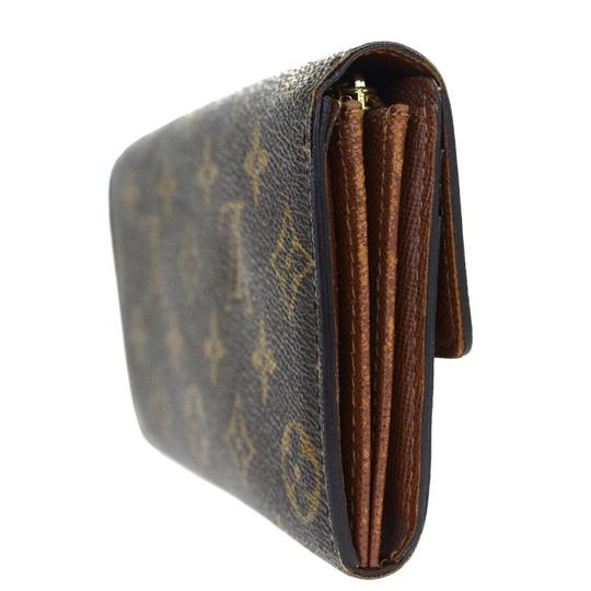 Louis Vuitton Authentic LOUIS VUITTON Portefeuille Sarah Long Bifold Wallet Monogram Image 4