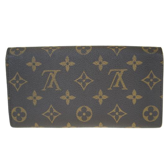 Louis Vuitton Authentic LOUIS VUITTON Portefeuille Sarah Long Bifold Wallet Monogram Image 5