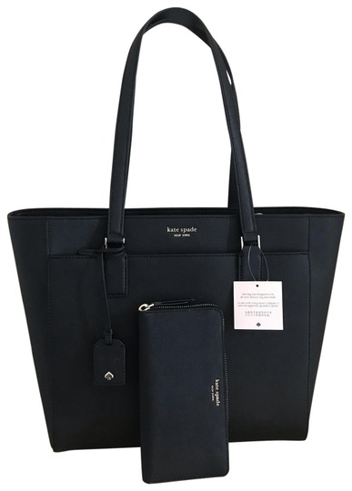 Preload https://img-static.tradesy.com/item/25955982/kate-spade-cameron-laptop-and-matching-wallet-black-leather-tote-0-1-540-540.jpg