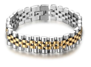 Other Luxury Gold Color Stainless Steel Bracelet 200mm Wristband Men Jewelry Bracelets