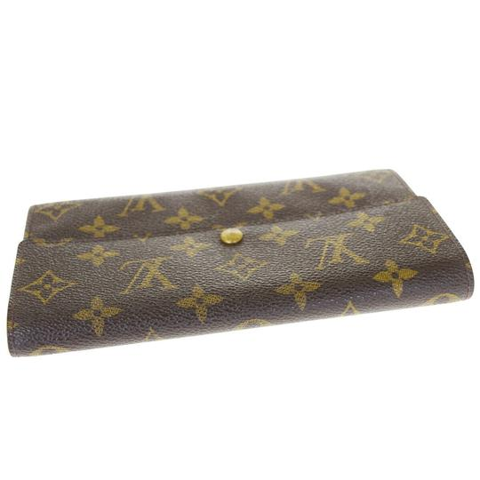 Louis Vuitton Authentic LOUIS VUITTON Credit Long Bifold Wallet Purse Monogram Image 2
