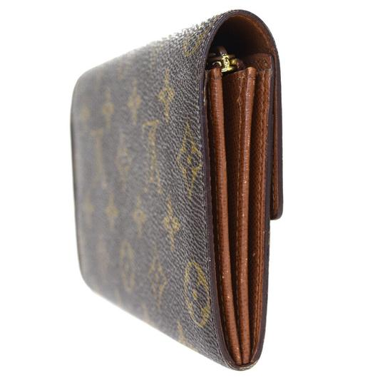 Louis Vuitton Authentic LOUIS VUITTON Credit Long Bifold Wallet Purse Monogram Image 4